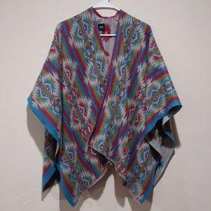ASOS Poncho Aztec Pattern One Size